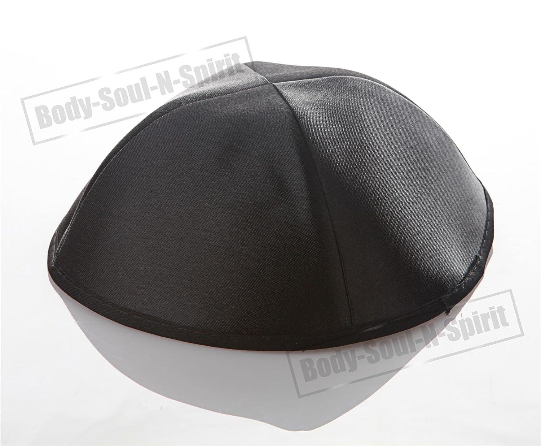 d6ecdb30498 Amazon.com   Black Satin Kippah Yarmulke Tribal Jewish Yamaka Kippa Israel Hat  Covering Cap   Beauty