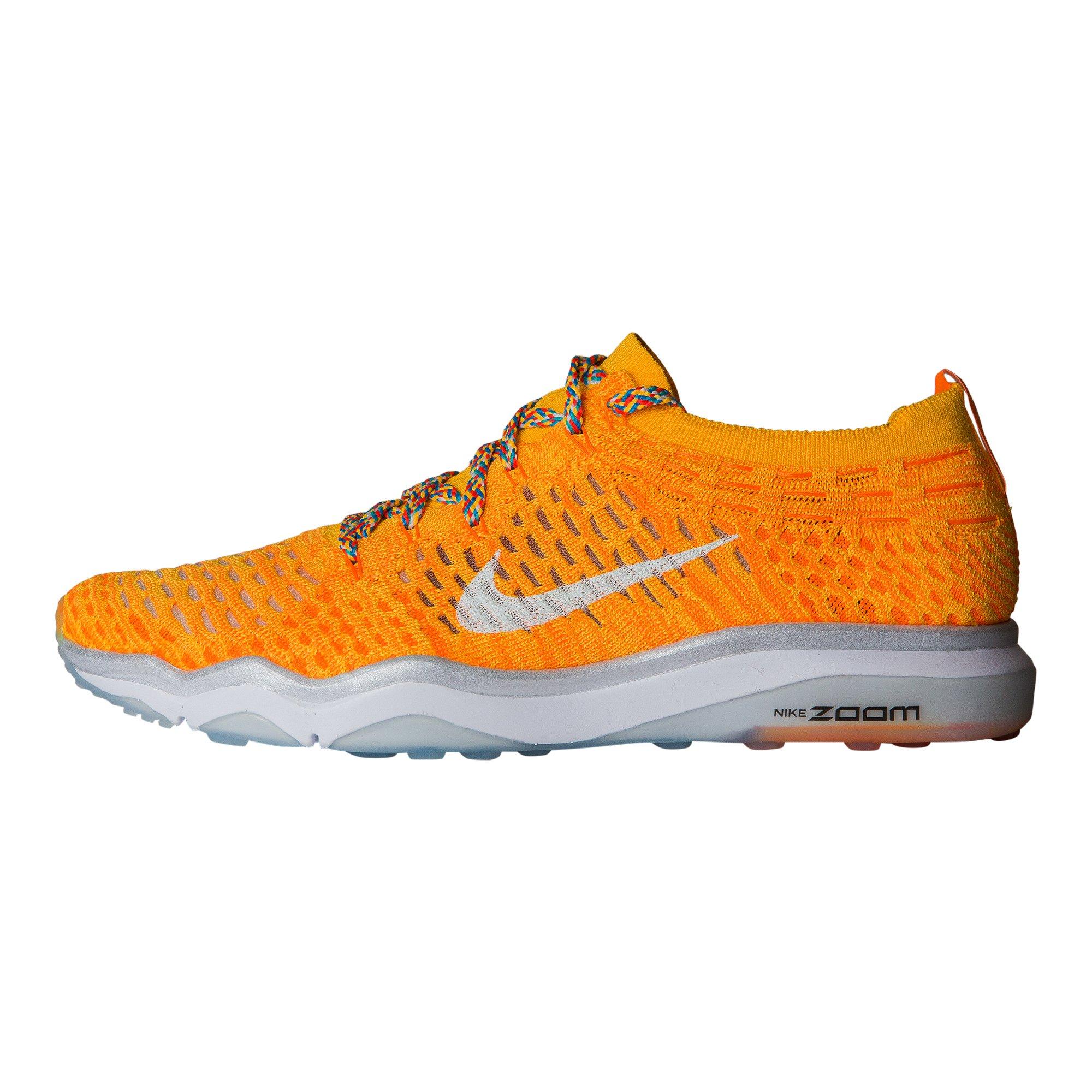 NIKE Women's Air Zoom Fearless FK Running Shoes Laser Orange/White, 8 B(M) US