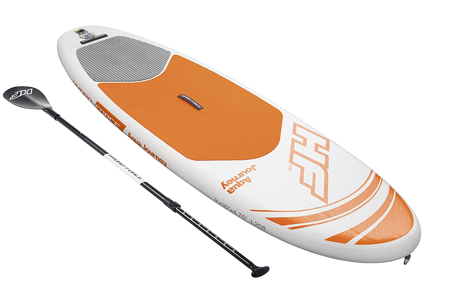 """Amazon.com : Bestway Hydro-Force 9' x 30"""" x 4.75"""" Aqua Journey Inflatable  Stand Up Paddle Board : Sports & Outdoors"""