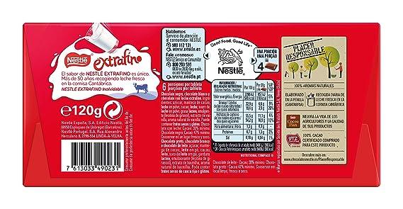 Nestlé Extrafino 3 Chocolates Chocolate Blanco Negro y con Leche - Tableta de Chocolate: Amazon.es: Amazon Pantry