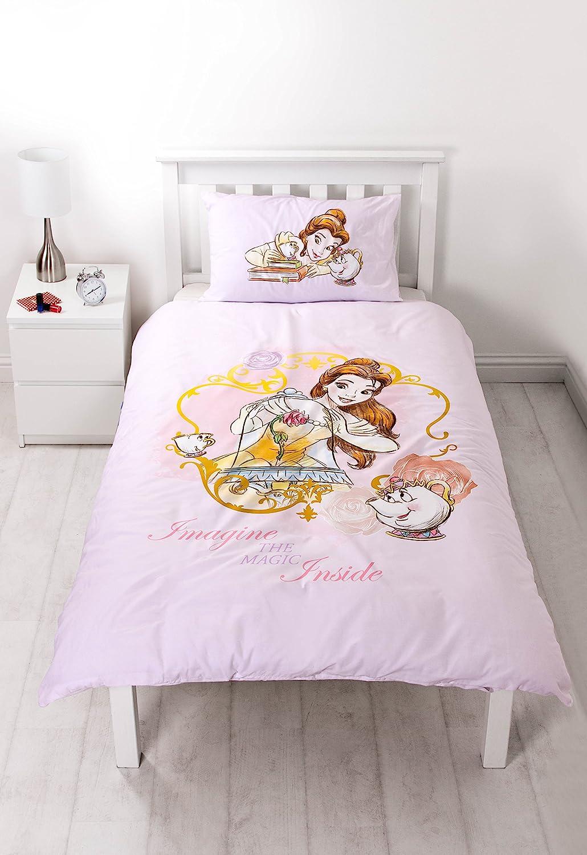 Disney Princess 'Imagine' Reversible Panel Single Bed Duvet Quilt Cover Set GC DPCIMADS001UK1