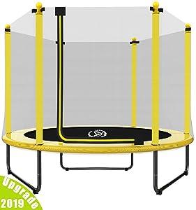 "LANGXUN 60"" Trampoline for Kids - 5ft Outdoor & Indoor Trampoline | Birthday Gifts for Kids, Gifts for Boy and Girl, Baby Toddler Toys (2019 Upgrade)"