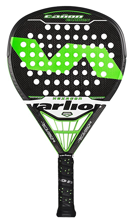 VARLION Cañon Carbon Hexagon Difusor - Pala de pádel Unisex, Color Verde