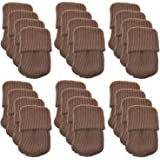 24pcs Polyester Furniture Socks/ Chair Leg Floor Protector,Coffee