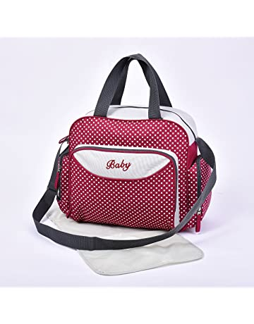 264339c46d Baby Nappy Diaper Changing Bags Grey/Polka Dots Design 6600 (6600 Red)
