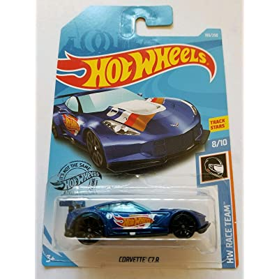 Hot Wheels 2020 Hw Race Team - Corvette C7.R 193/250 Blue: Toys & Games
