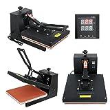 """F2C 15"""" x 15"""" Black Heat Press Machine Digital"""