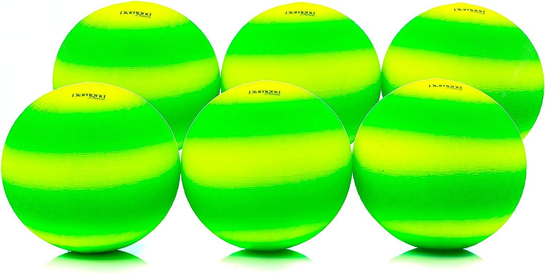 Set de 6 pelotas de juego de 21,6 cm, para kickball, balón ...