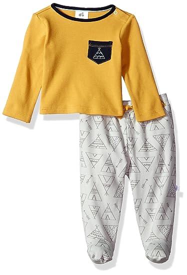 86538689cfa6 Amazon.com  JUST BORN Baby Boys Skipping Stones 2 Piece Long Sleeve ...