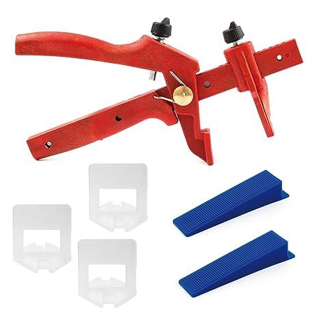 Lantelme 6042 Fliesen Nivelliersystem Basis-Set für Fuge 3 mm und 3-15 mm Stärke - Verlegehilfe - Verlegesystem - Fliesenverl