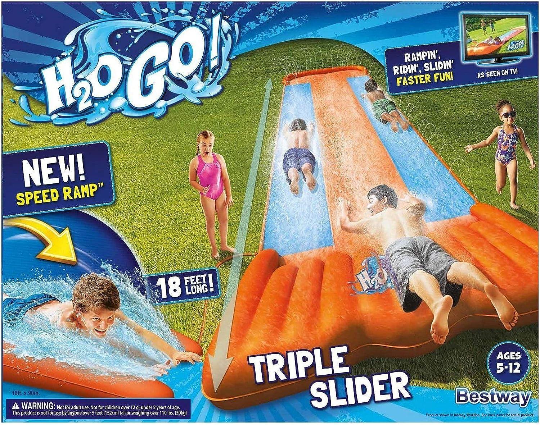 aliexpress molti alla moda nuovo stile e lusso Amazon.com: New Inflatable Water Slide Triple Pool Kids Park ...