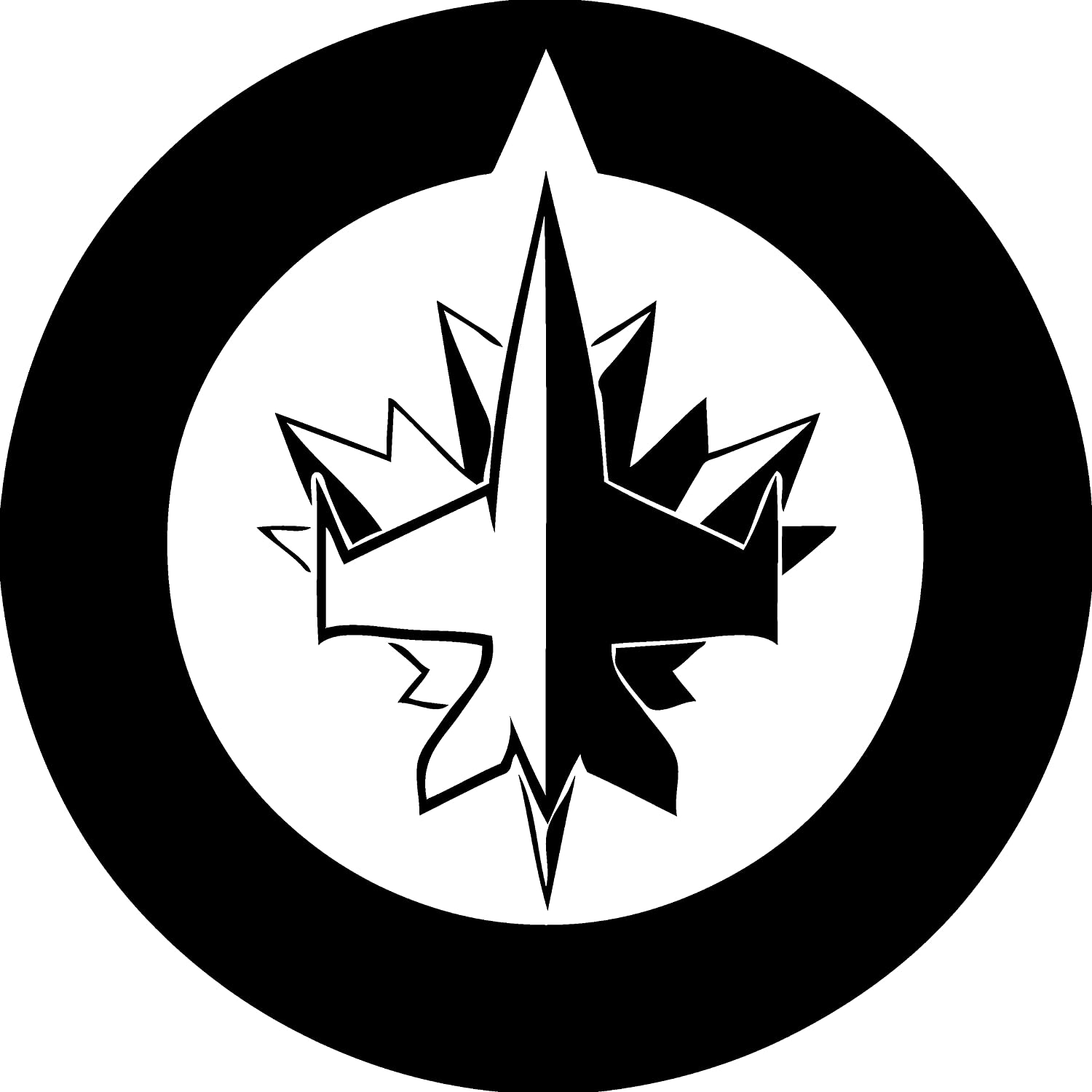 New winnipeg jets decal decal sticker for car or truck windows laptops etc amazon ca automotive