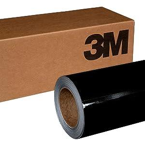 3M 1080 G212 Gloss Black Metallic 5ft x 15ft (75 sq/ft) Car Wrap Vinyl Film