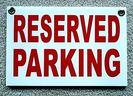 Amazon.com: Letrero de aparcamiento reservado para ...