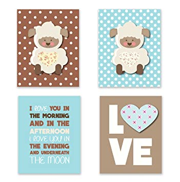 Love You In The Morning Baby Nursery Décor Lamb Décor For Babies