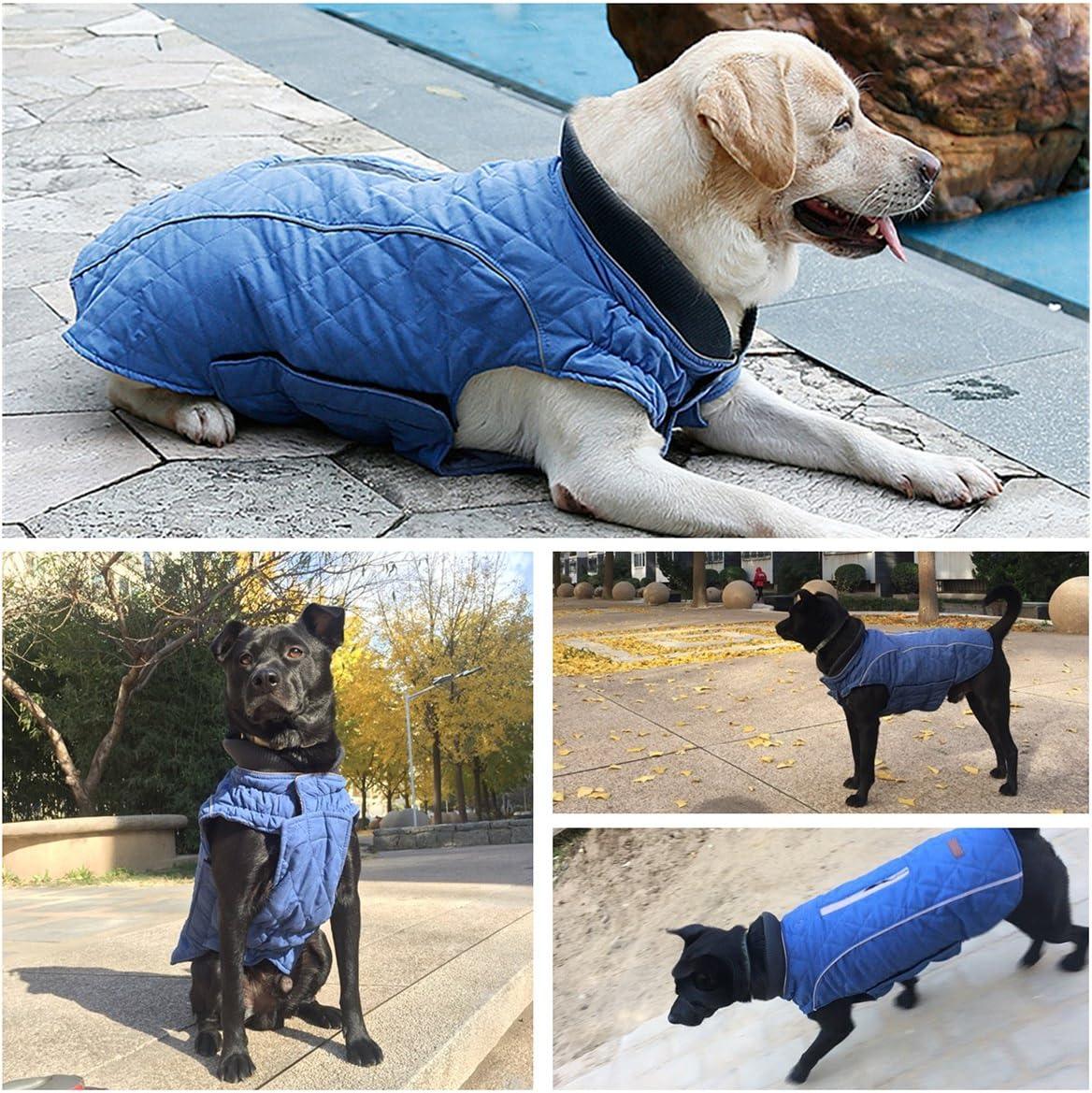 Dog Coat Warm Padded Puffer Vest Puppy Jacket with Fleece TFENG Reflective Dog Jacket Pink XS
