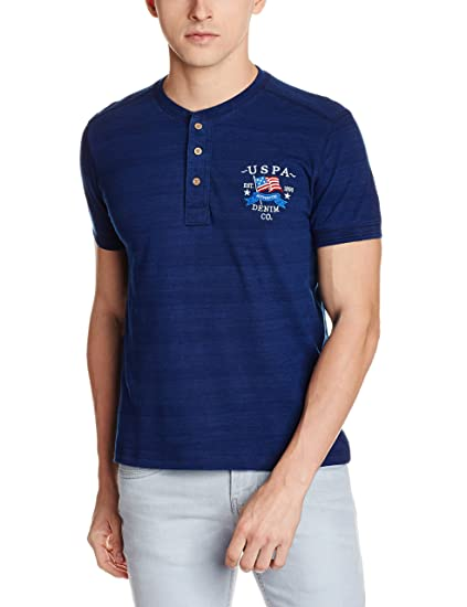22066a17 U.S. Polo Denim Co. Men's T-Shirt: Amazon.in: Clothing & Accessories