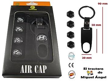 Llavero Hyundai metal-cuero y válvulas metal: Amazon.es ...