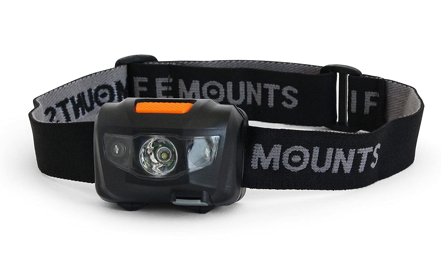 Life Mounts Rechargeable LED Headlamp with USB Car Charger Black