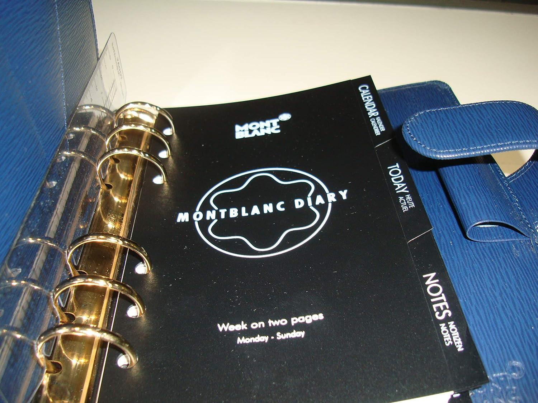 M&Ms Mont Blanc 48001 - Agenda (Piel, A6), Color Azul ...