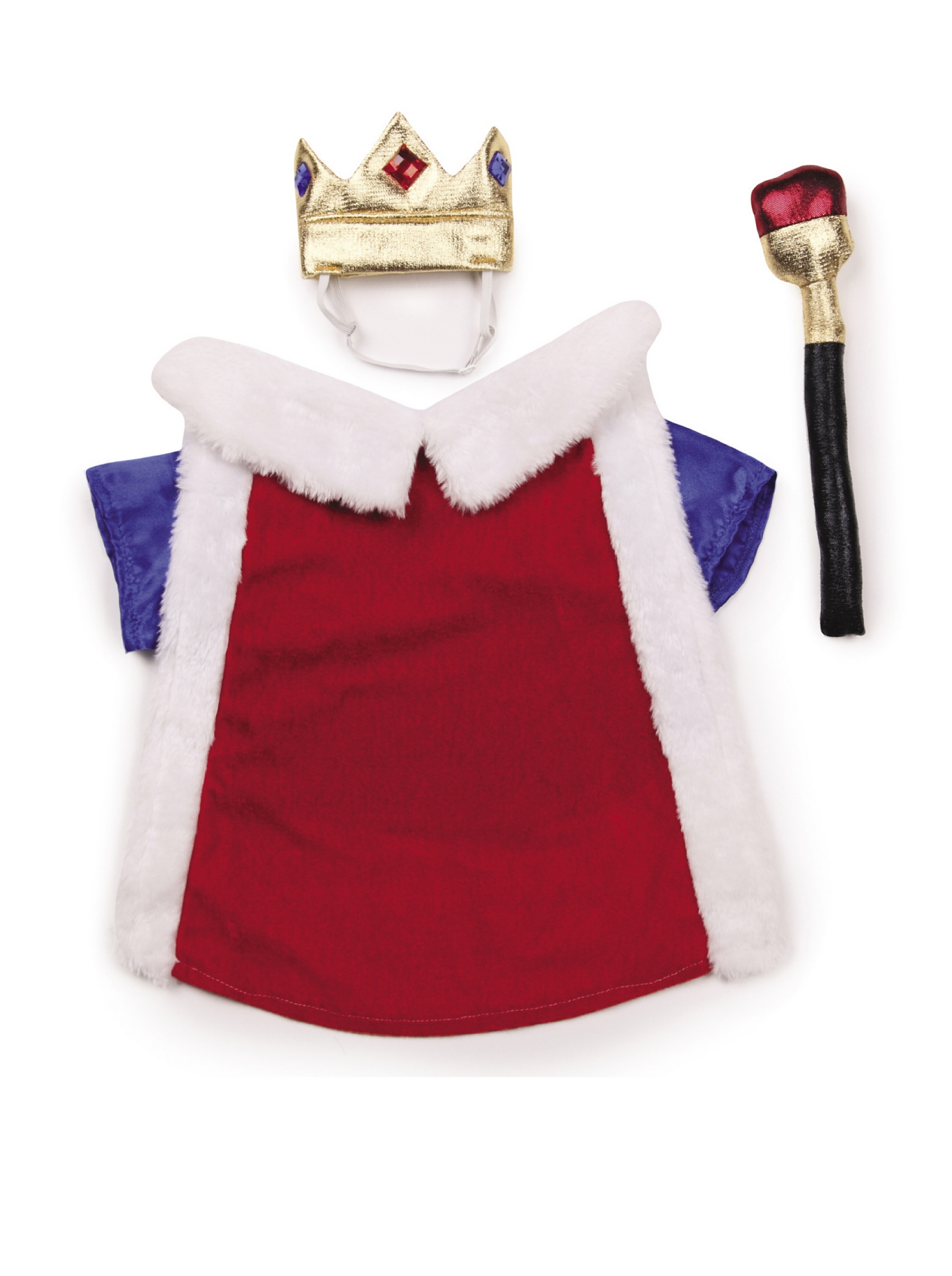 Zack & Zoey Royal Pup Dog Costume, X-Large, Red/Blue