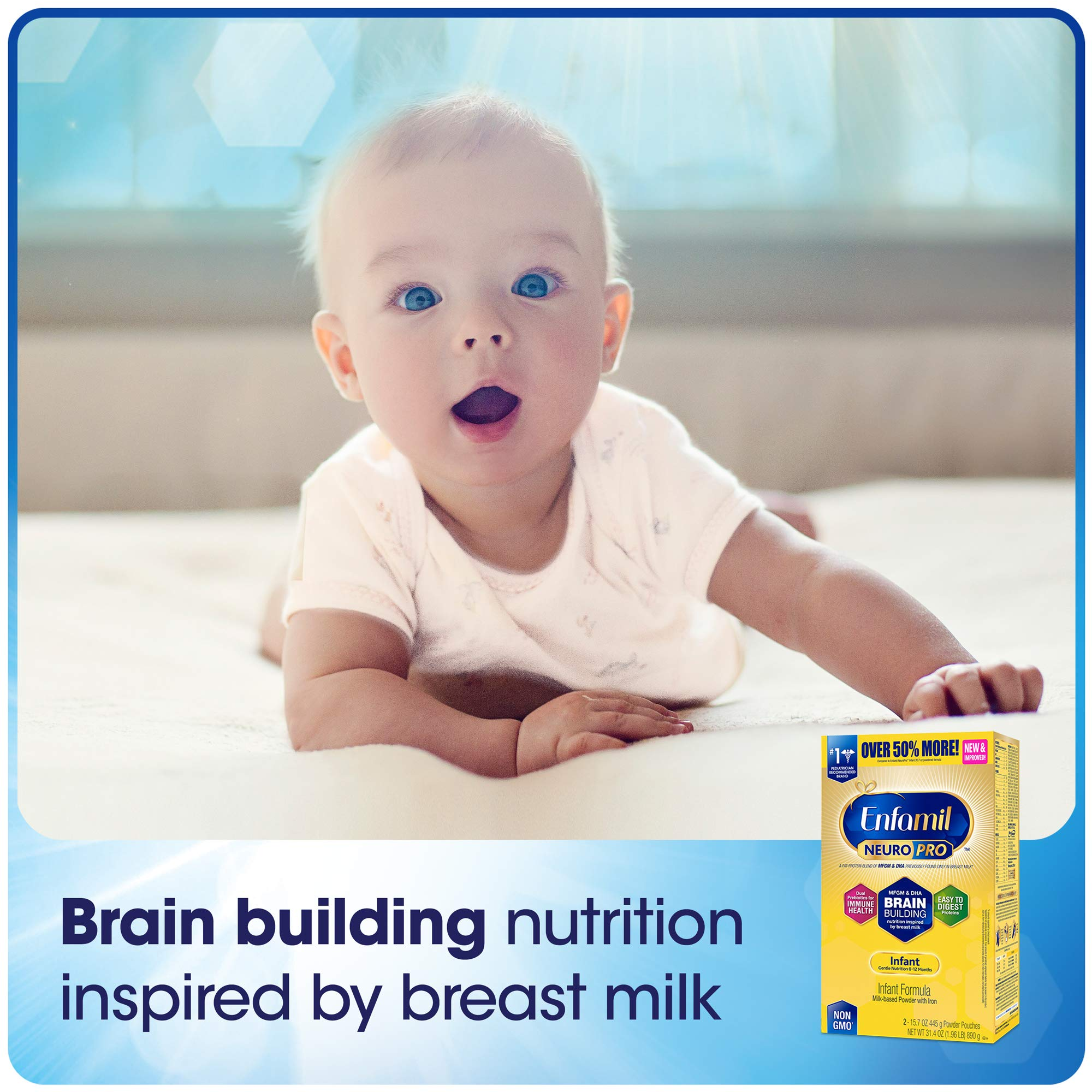 Enfamil NeuroPro Infant Formula - Brain Building Nutrition Inspired by Breast Milk - Powder Refill Box, 31.4 oz (Pack of 4) by Enfamil (Image #6)