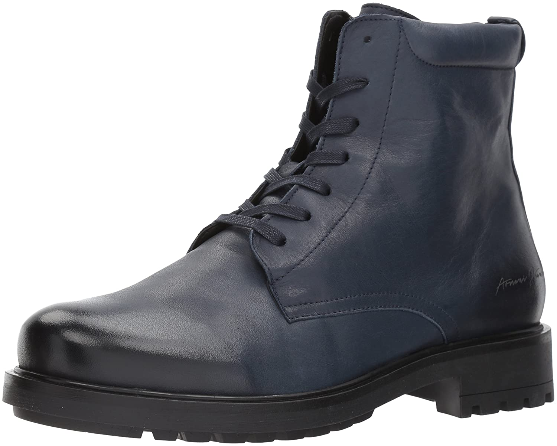 Blå Armani Jeans Män's Chunky läder Lace Up Boot Boot Boot mode  bara för dig
