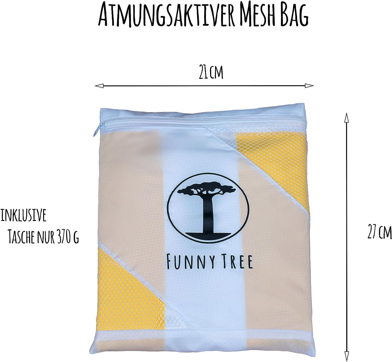 Ultra Ligero Viajes Funny Tree/® Toallas de Microfibra en tama/ños Colores sorprendentes y como un Conjunto Deporte Antibacteriano de Secado r/ápido Ahorro de Espacio