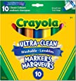 Crayola Ultra-Clean Washable Markers, Broad Line, 10 Count,  Gift for Boys and Girls, Kids, Ages 3+, Summer Travel, Out of School Cottage Activties