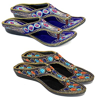 62133110843a9 Great Art Women Girls Fashionabal Party Wear Fancy Slipper Sandals Combo Set  of 2 Pair: Buy Online at Low Prices in India - Amazon.in