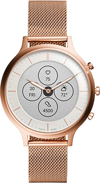 Fossil Womens Charter HR Heart Rate Stainless Steel Hybrid Smartwatch