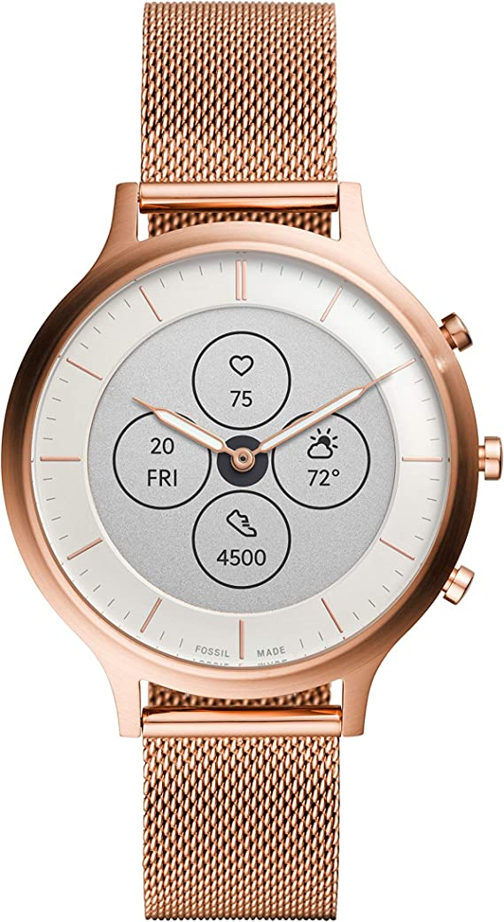 Amazon.com: Fossil Womens Charter HR Heart Rate Stainless ...