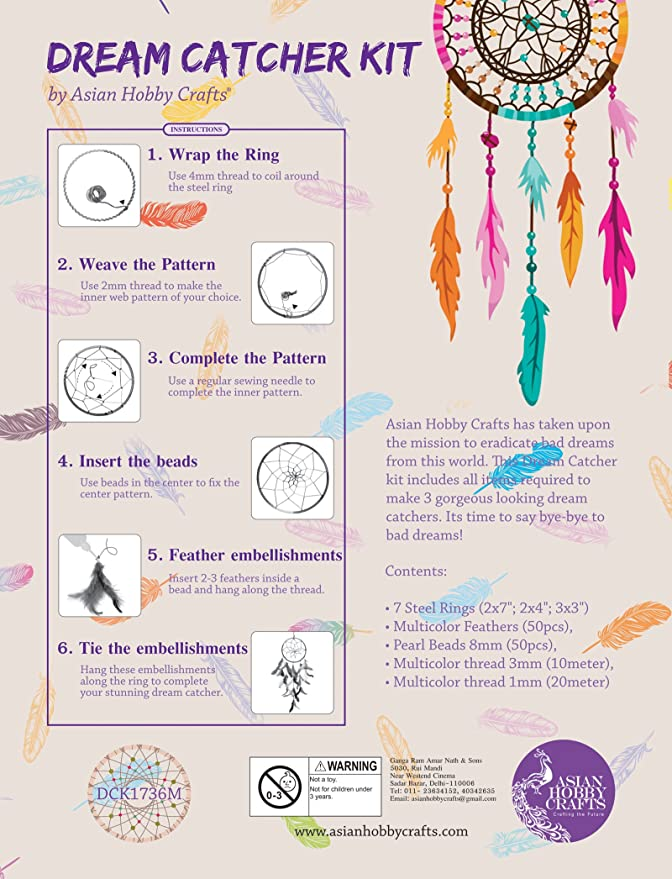 Asian Hobby Crafts DIY Dream Catcher Kit Medium Amazonin Toys Extraordinary All About Dream Catchers