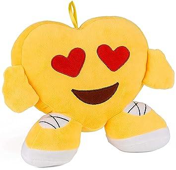 Brubaker Emoji Cojín de peluche - 32 cm - Medias de ojos ...