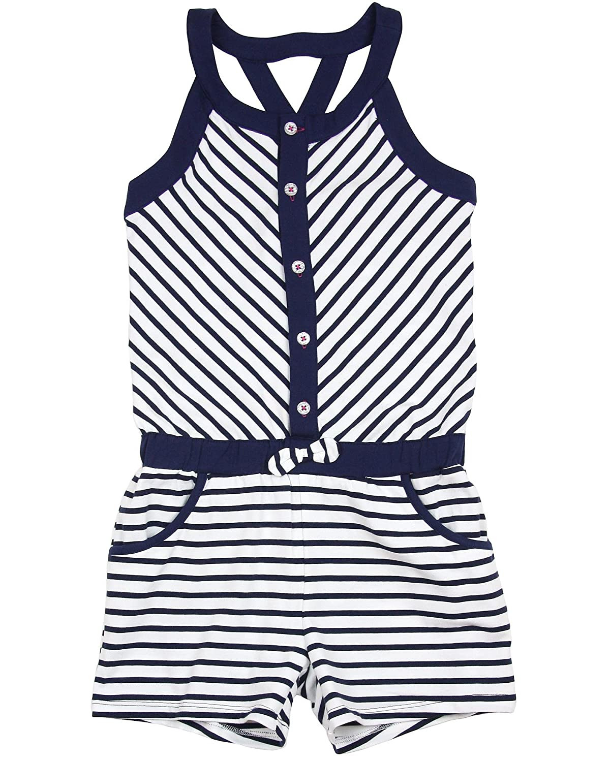 Sizes 5-12 Deux par Deux Girls Romper Coup de Foudre