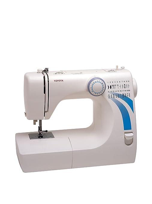 Toyota máquina de coser 20 puntos stf37 blanco/azul