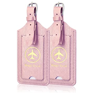ACdream Leather Luggage Bag Tags