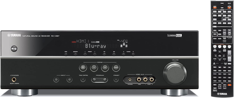 Yamaha RX-V367BL 500-Watt 5.1- Channel AV Receiver (Discontinued by Manufacturer)
