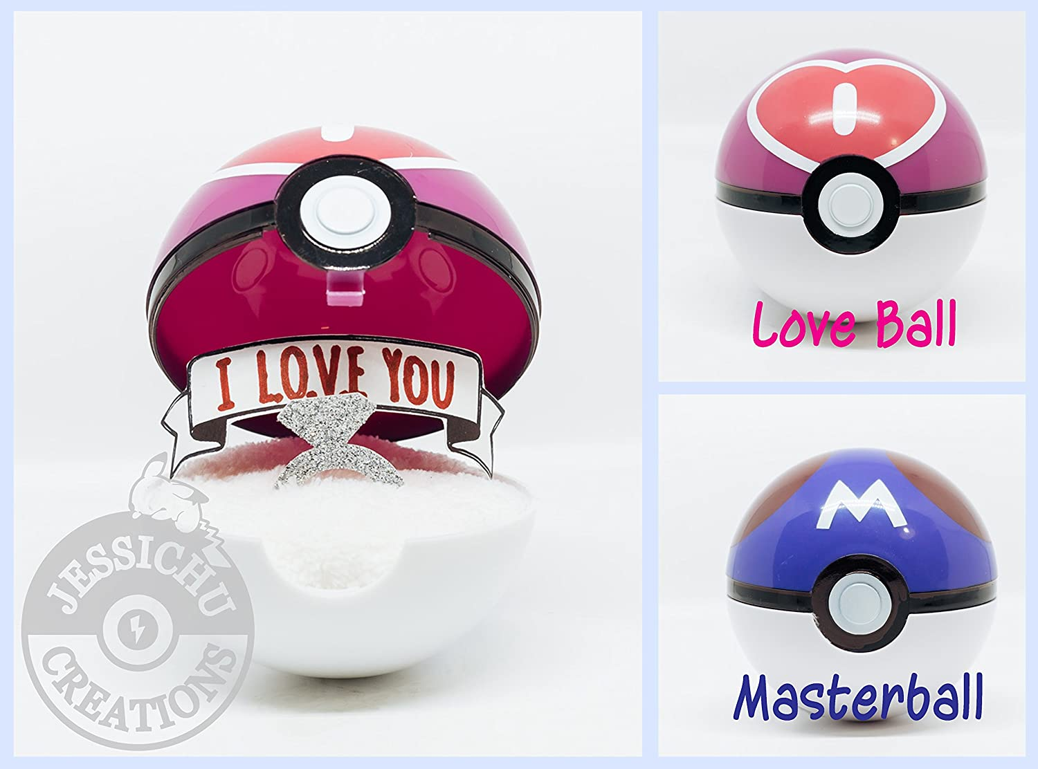 Amazoncom Pokemon Pokeball Ring Box I Choose You Wedding