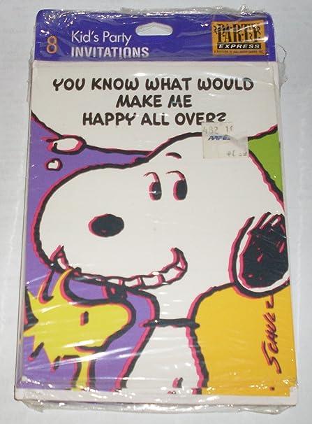 Amazon com: Hallmark Peanuts Snoopy Birthday Party