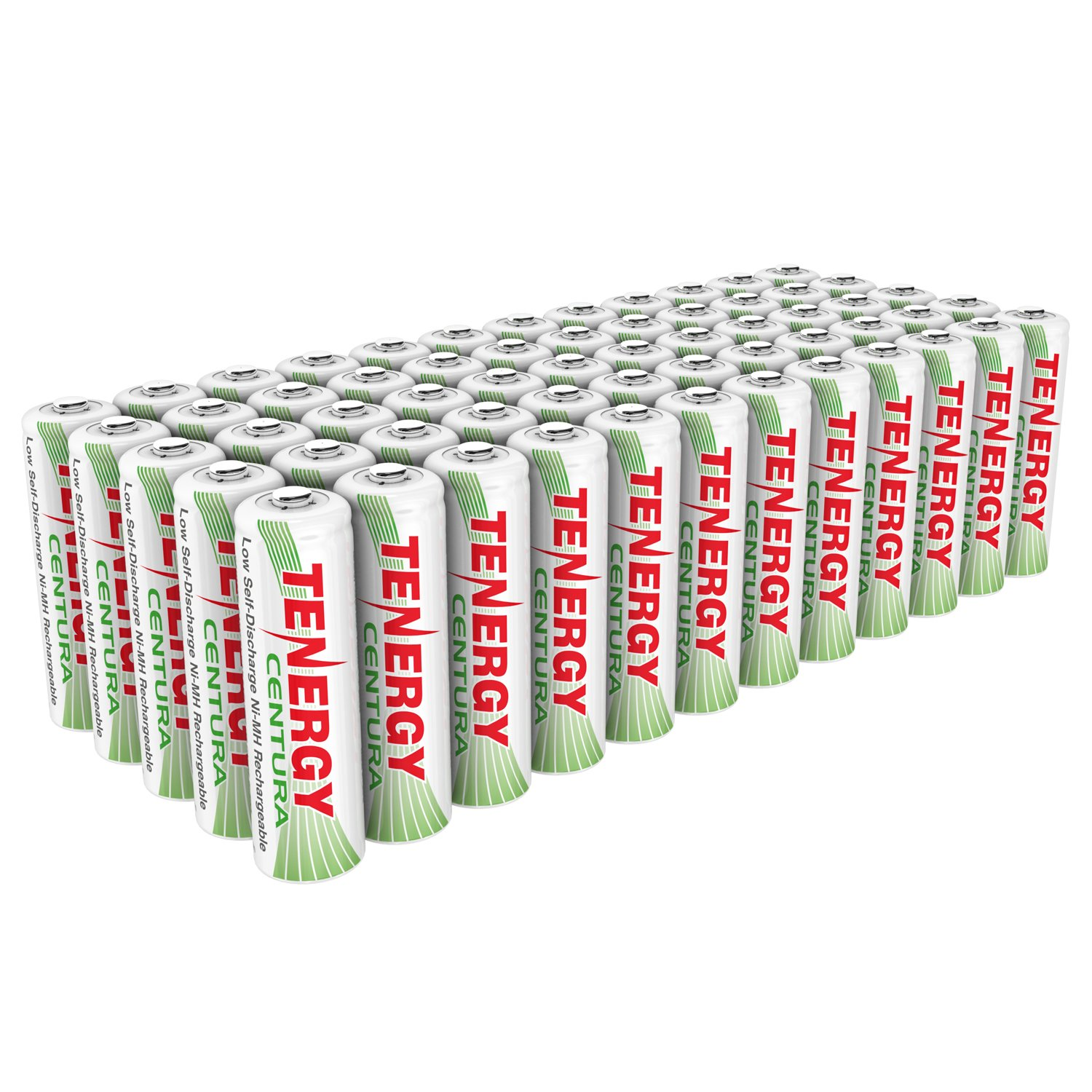 Tenergy AA Rechargeable NIMH Battery 2000mAh Pre-Charged Household Battery Low Self Discharge High Performance AA Battery Pack for Remote Controller/Toys/Flashlight/Mice (60 PCS) by Tenergy