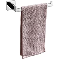 TASTOS Premium Stainless Steel Hand Towel Holder, Square Hand Towel Ring Heavy Duty Wall Mounted Modern Hand Towel Bar…
