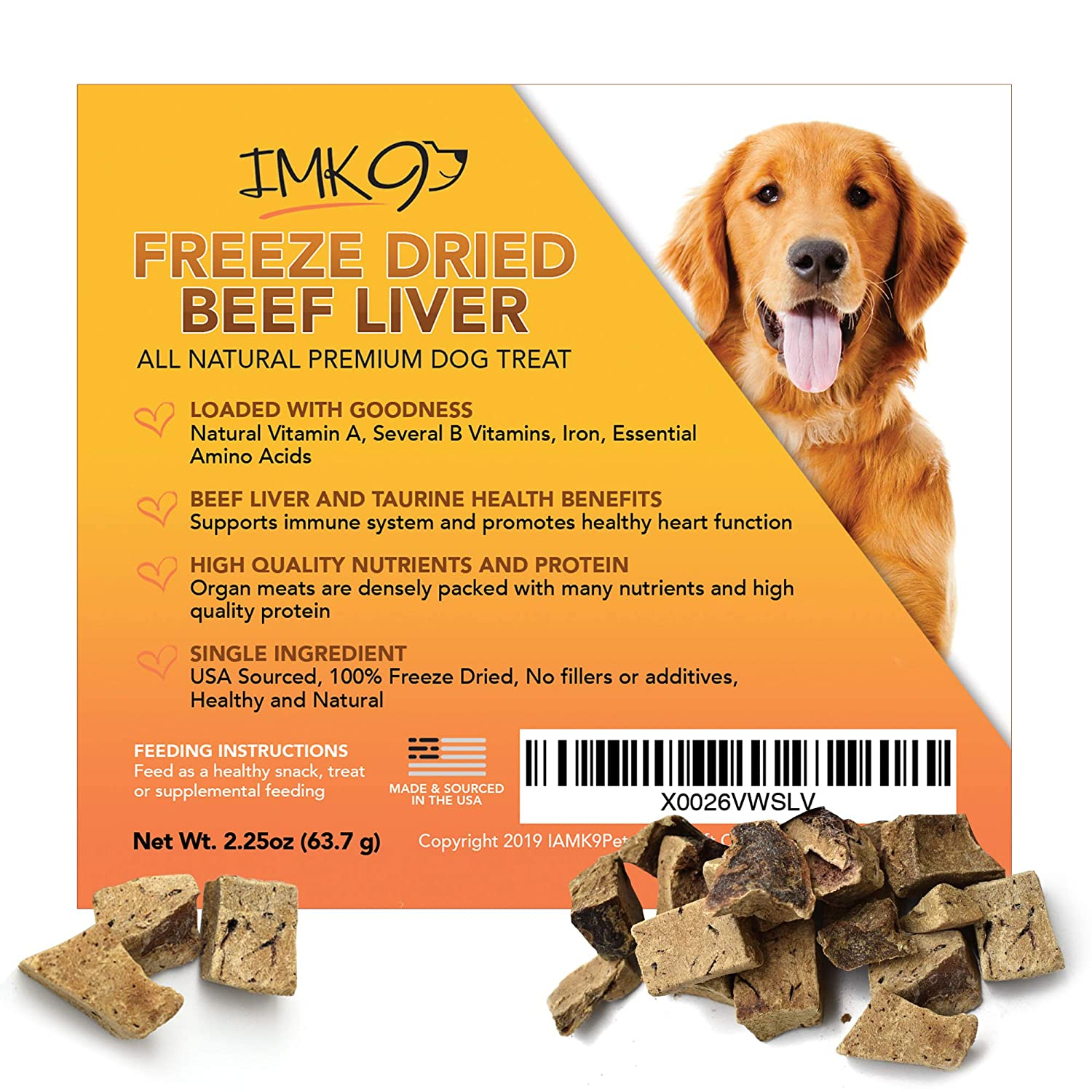 Beef Liver Treats Freeze Dried – All Natural High in Protein & Vitamins - 100% Pure Premium Beef, Grain Free – No Additives, Preservatives, Gluten, or Soy – For Dogs and Puppies – Made in the USA