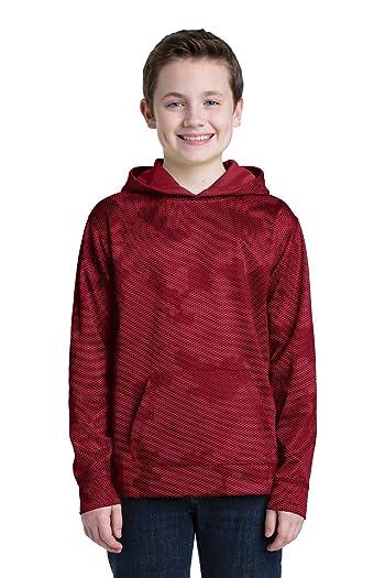 Boys' Sport-Wick CamoHex Fleece Hooded Pullover YST240