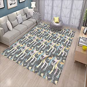 Amazon Com Striped Household Floor Mat Arch Shape Curvy