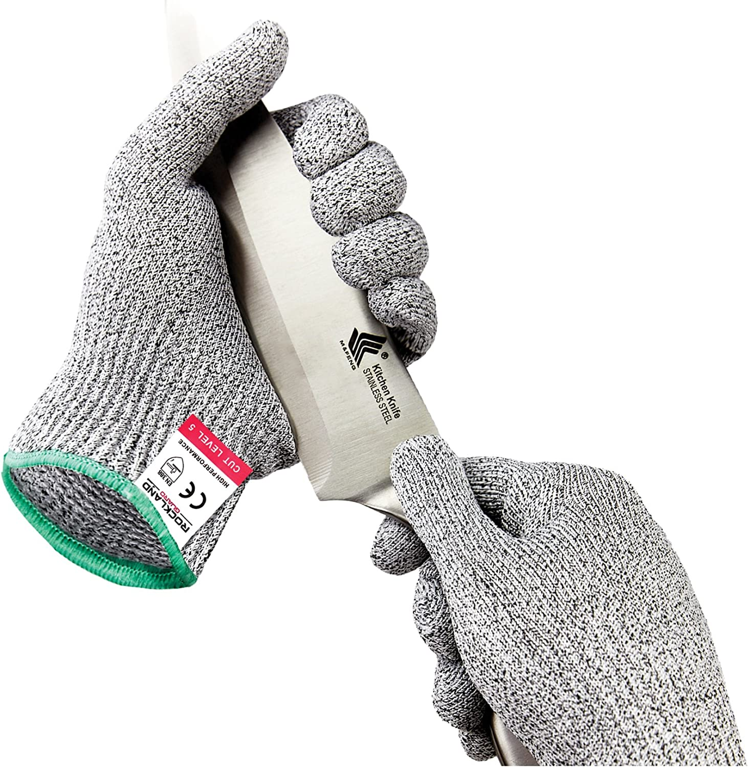 Rockland Guard Cry & Cut Resistant Gloves - High Performance Level 5 Protection, Food Grade. Free Storage Bag Included!