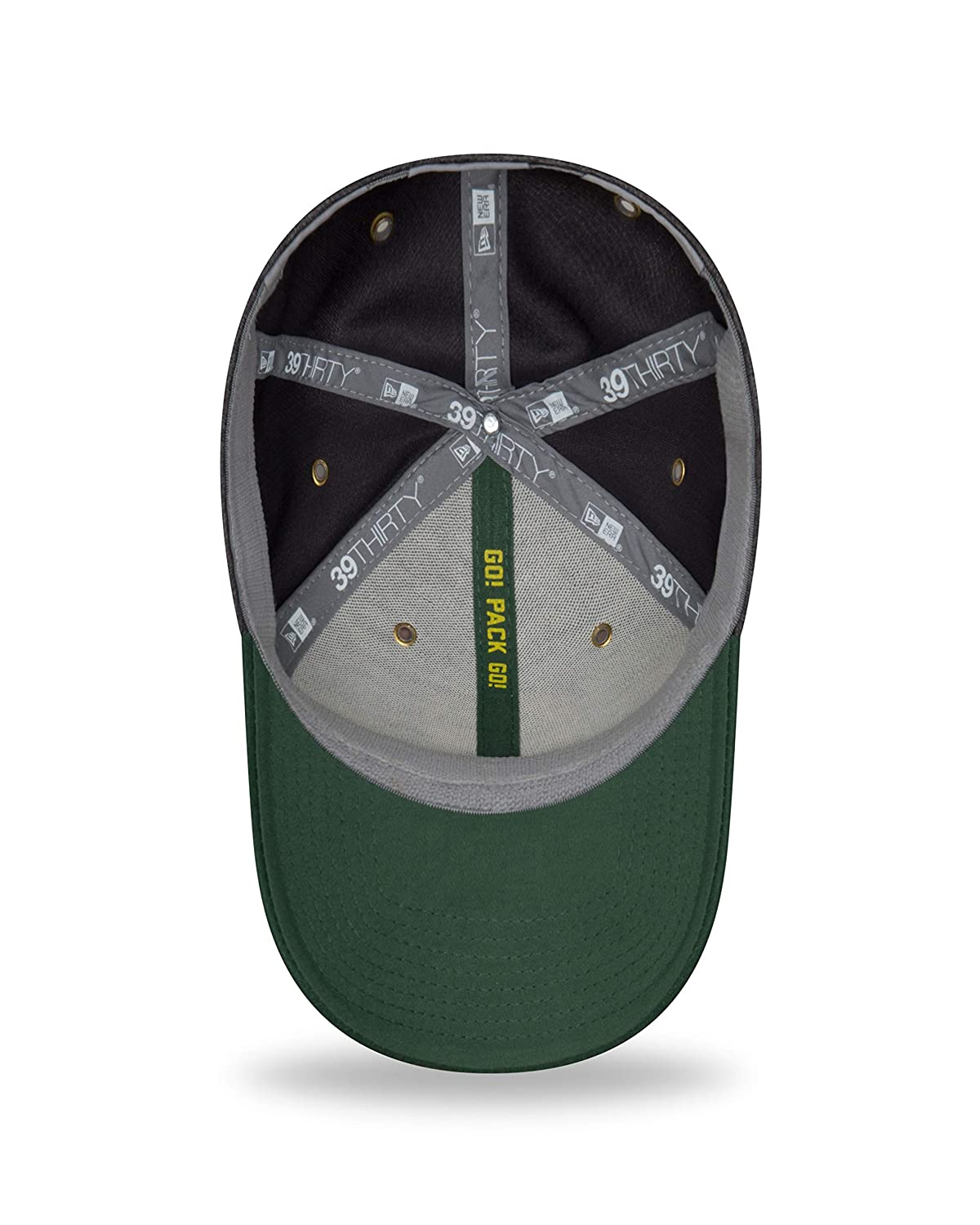 Grey New Era Green Bay Packers NFL Sideline Home 39THIRTY Stretch Fit Cap