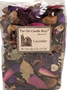 Old Candle Barn Lavender Potpourri Large Bag - Perfect for Spring and Summer But Can Be Used All Year Long - Decoration or Bowl Filler