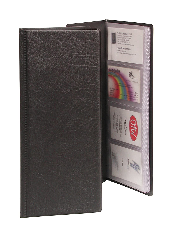 Goldline CBC4PZ Business Card Holder PVC 64 Pockets for 128 Cards ...