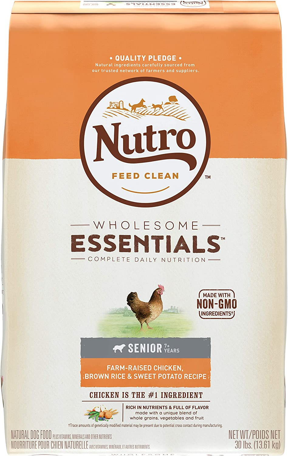 1. Nutro Wholesome Essentials Senior Dry Dog Food